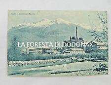CARTOLINA AOSTA ANSALDO INDUSTRIA FABBRICA VIAGGIATA 1936