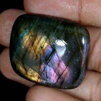 loose Labradorite Gemstone Wonderful~ 109Cts Natural Purple Flash Purple Labradorite Cabochon Purple Flash Labradortie Pear Gemstone BL-41
