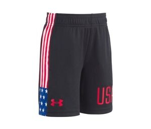 Under Armour Boys USA Stars and Stripes Graphic-Print Shorts Size 2T