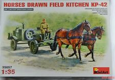 MiniArt 35057 1:35th scale Horse drawn Field Kitchen with horses KP-42