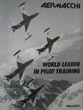3/1989 PUB AVION AERMACCHI MB-339 MILITARY JET TRAINER ALPES ORIGINAL AD