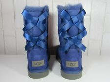 UGG BAILEY BOW II WOMEN SHORT BOOTS SUEDE DARK DENIM US 7 /UK 5 /EU 38
