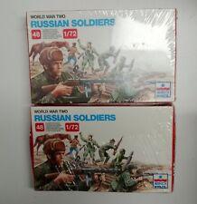 1:72 ESCI Russian Infantry WWII 2 Sätze noch OVP