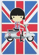 BON BON on the Go-Go mod POP ART postcard VESPA scooter Union Jack Japan anime