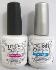 Harmony Gelish Top esso fuori Rivestimento and Fondotinta Base Coat .142ml ea.UK