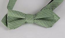 New NWT Countess Mara Men's Bow Tie 100% Silk Adjustable Dot Print Green Navy