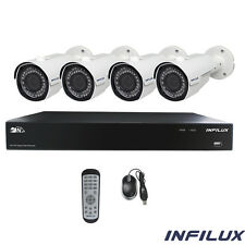 Infilux 4-Channel Hi-Def Indoor/Outdoor Security System- 4 IR 3.6mm Cameras