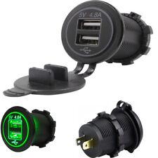 4.8A Doppel USB Schnellladegerät mit grüner LED-Anzeige wasserdicht staubdicht