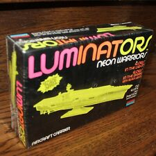 new sealed Luminators Neon Warriors Aircraft Carrier 1991 Monogram vintage #1617