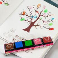 5 Farbe Fertigkeit Stempelkissen Farben auf Ölbasis für Stempel-Papier Holz DRP