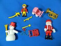 Lot Playmobil Advent Calendar Christmas Santa Claus Snowman Figures Parts