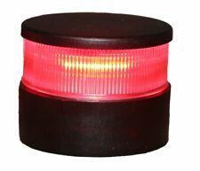 Aqua Signal All Round Red LED Navigation Light with Black Housing