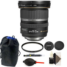 Canon EF-S 10-22mm f/3.5-4.5 USM Lens Bundle for Canon DSLR Camera