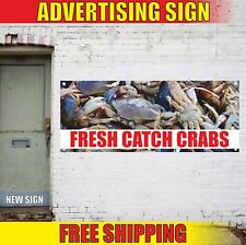 FRESH CATCH CRABS Advertising Banner Vinyl Mesh Decal Sign seafood local oysters