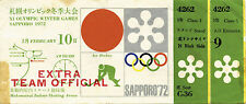 Olympic Games Sapporo 1972. Ticket Icehockey Japan v Norway