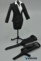 ZY Toys Female Black Color Skirt Suit Full Set 1/6 Fit Phicen Kumik body