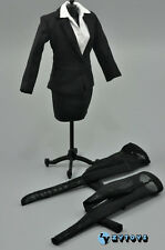 ZY Toys Female Black Color Skirt Suit Full Set 1/6 Fit Phicen Kumik body
