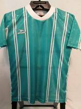 NOS Vintage Athletic Soccer Shirt Sports SCORE Aqua Green White V-Neck Youth M