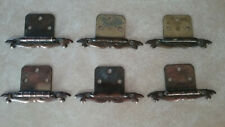 VINTAGE LOT OF 6 COPPER COLORED FLUSH MOUNT CABINET HINGES
