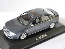 Audi RS6 C5 Limousine grau grise grigio grey metallic, Minichamps 1:43 Vitrine!