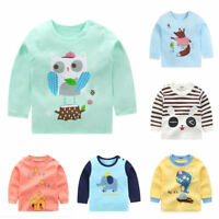 baby kids girls clothes boys long sleeve T shirt baby cotton top base shirt