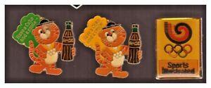 Seoul 1998 Olympics pins: 2 diff. Coca-Cola; Sports Illlustrated