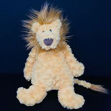 "Jellycat Orange Yellow Mumble Lion Plush 16"" Swirl Rosette Fur Long Tail Floppy"