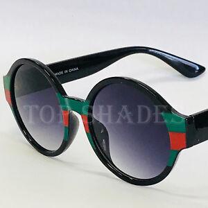 Fashion Designer Style Luxury Round NEW Women's Men's Red-Green-Black Sunglasses