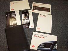 1992 Audi 100 Owner's Owners User Manual Guide Quattro CS Wagon S Diesel 2.8L