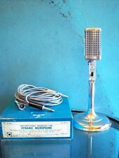 Vintage 1960's Calectro Q4-150 Dynamic microphone Aiwa old Midland Japanese # 1