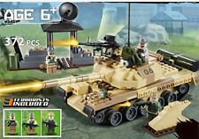 Army military T-62 tank 372 pcs Construction block set works with Lego