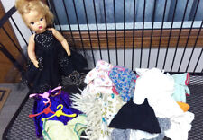 Vintage Terri Lee Doll with a bunch of extra clothes and a few Totsy Hangers