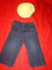 Baby Boy 12 Months Denim & Beige Hat Lot Nice Condition Spring