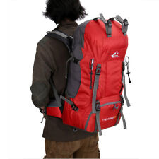 60L Hiking Backpack Mountain Camp Rucksack Travel Daypack Bag with Rain Cover
