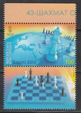 Kyrgyzstan Kirgistan MNH** 2018 Mi. 102 Zf  Chess