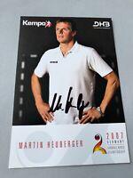 MARTIN HEUBERGER  Weltmeister 2007  DHB Handball signed 10x15 Autogrammkarte