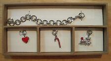 Fossil Brand~Silver Glitz Charm Starter Bracelet~Christmas Boxed Set~JA6535~$98
