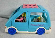 Fisher Price Loving Family Van Mom Baby With box Blue Minivan Vehicle Mini Van