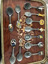 Franklin Mint Country Store Pewter Spoons Lot of 11 (1991)