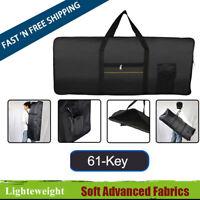 Keyboard Piano Carry Bag Case Lightweight Black Advanced Fabrics Waterproof