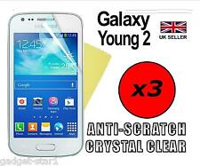 3x HQ CRYSTAL CLEAR SCREEN PROTECTOR COVER GUARD FILM FOR SAMSUNG GALAXY YOUNG 2