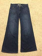 HUDSON WIDE FLARED LEG JEANS size 27  Back FLAP Pockets Style W376DFZ  B7