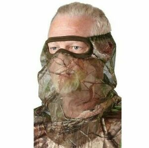 Lightweight Camouflage Camo Face Mask Hunting Mesh | 3/4 Fit | Bug Screen