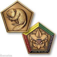 BOY SCOUTS BEAVER PATROL WOOD BADGE CHALLENGE COIN MADE IN USA