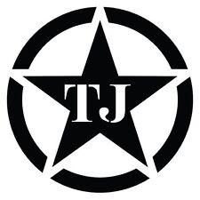 Jeep Wrangler Tj Hood Decal Gloss Black Vinyl New