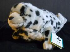 Wild Republic Baby Seal Plush Gray w/Black Spots Stuffed Animal EUC w/Tag