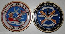 USS Cutlass SS 478 Submarine Commemorative Coin Sub USN Tom & Jerry and Shield