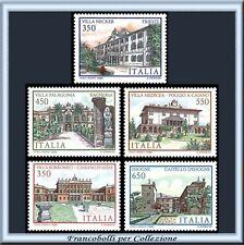 1986 Repubblica Ville Italia 7 emissione n 1781/1785 **