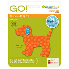 AccuQuilt GO! & Baby Gingham Dog Fabric Cutting Die 55064 Quilting Applique Sew