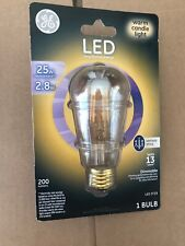 GE LED Warm Candle Light 25W Replacement 2.8W Vintage Style Dimmable LED ST19